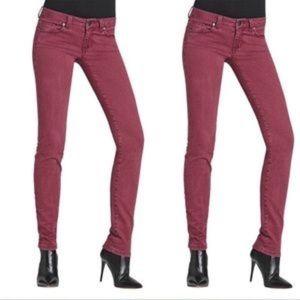 CAbi bordeaux Wash Stretch Jeans Size 4